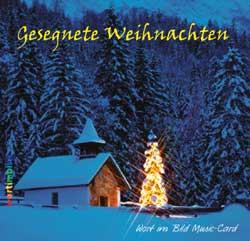 Music-Card - Gesegnete Weihnachten