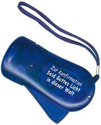 Taschenlampe LED, blau frozen - Zur Konfirmation