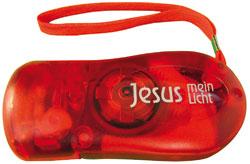 Taschenlampe LED - rot frozen - Jesus mein Licht