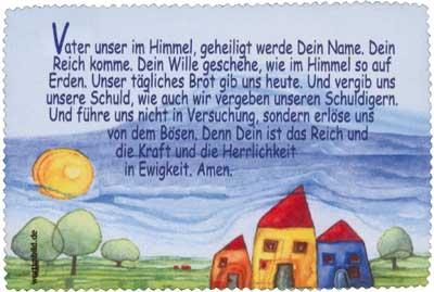 Brillenputztuch klein 15x10 cm - Dorf/Vaterunser