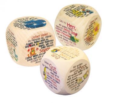 Spar-Päckchen - 3 Gebetswürfel bunt
