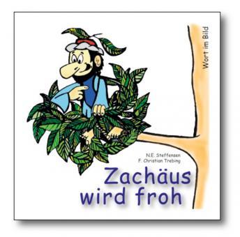 Malheft 14x14 cm - Zachäus wird froh