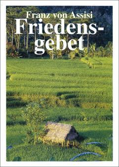 Spenden-Heft A6 - Franz von Asissi - Friedensgebet