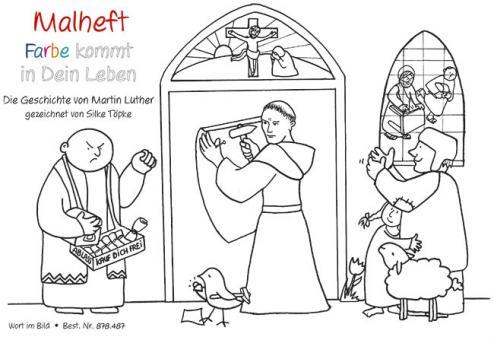 Malheft A5 - Die Geschichte von Martin Luther