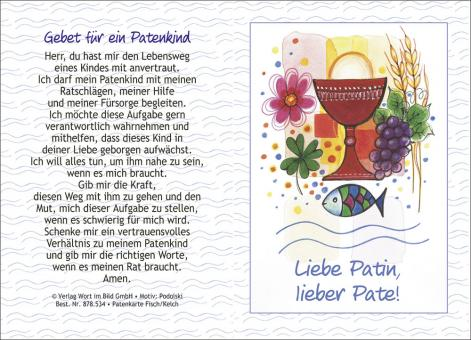 10er-Set Doppelkarten - Patenbrief