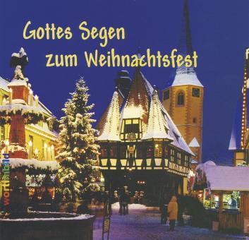 Grußheft mit CD - Gottes Segen zur Weihnachtszeit