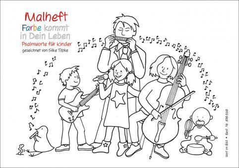Malheft A5 - Psalmworte für Kinder
