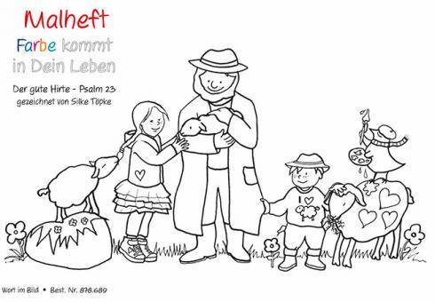Spenden-Malheft A5 - Der gute Hirte - Psalm 23