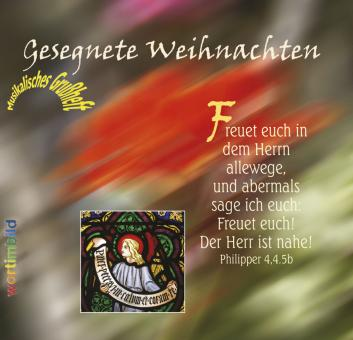 Grußheft mit CD - Gesegnete Weihnachten