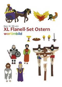 Set XL-Flanell-Bilder - Ostern