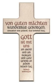 Holzkreuz 20 x 12 cm exklusiv - Bonhoeffer