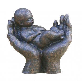 Skulptur - Beschützt bronze, Höhe 13 cm