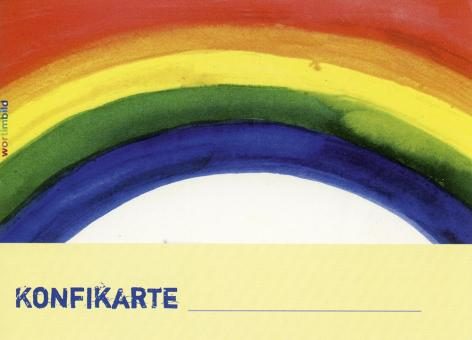 10er-Pack Konfibesuchskarten - Regenbogen