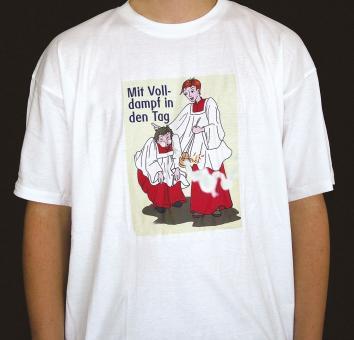T-Shirt - Mit Volldampf in den Tag