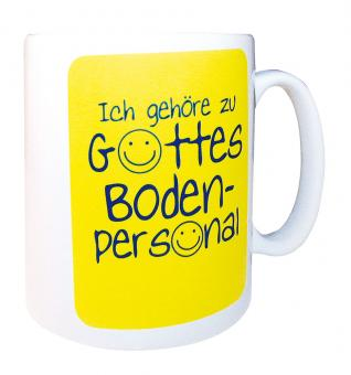 Fototasse - Bodenpersonal / gelb