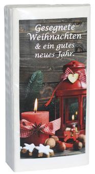 Taschentücher - Gesegnete Weihnachten & ein gutes neues Jahr
