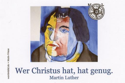 Brillenputztuch klein 15x10 cm - Martin Luther - Friese