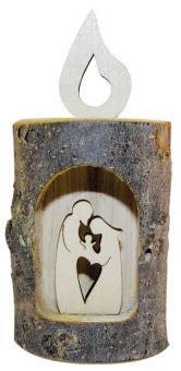 Baumstammkerze - Heilige Familie 10,5x5 cm