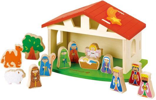 Holzspielzeug - Weihnachtskrippe