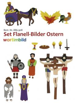 Set Flanell-Bilder - Ostern