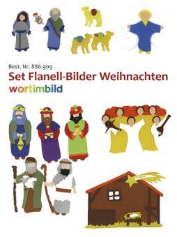 Set Flanell-Bilder - Weihanchten