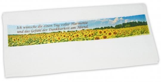 Geschenk-Set - Gästehandtuch weiß & 100g Naturseife Frühlingswiese
