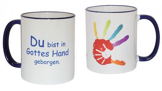 Fototasse - Hand in Hand - Du bist in Gottes Hand geborgen