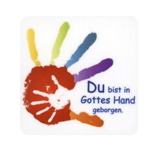 Magnet-Sticker 57x57 mm - Hand In Hand