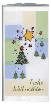 Set Taschentücher - Frohe Weihnachten - Weihnachtsbaum