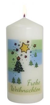 Kerze 13x6 cm - Weihnachtsbaum