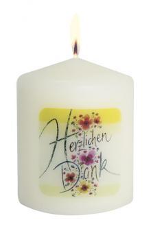 56er-Set Mini-Kerzen 6 cm - Herzlichen Dank