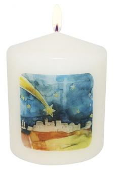 Mini-Kerze 5x6 cm - Bethlehem - Simone Riedel