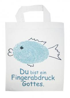 Kinder Baumwolltasche - Fisch/Fingerabdruck