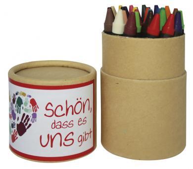 Stifteköcher 30 Wachsstifte - Schön, dass es uns gibt