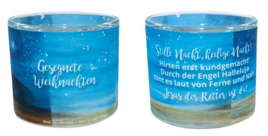 Leuchtglas 6 cm - Weihnachtsstall