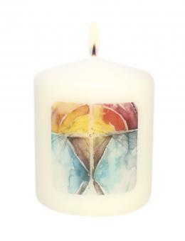 Mini-Kerze 6 cm - Krippe - Simone Riedel