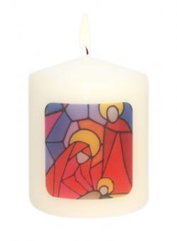 56er-Set Mini-Kerzen 6x5 cm - Heilige Familie