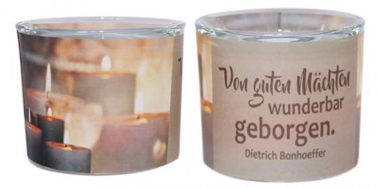 Leuchtglas 6 cm - Bonhoeffer - Von guten Mächten