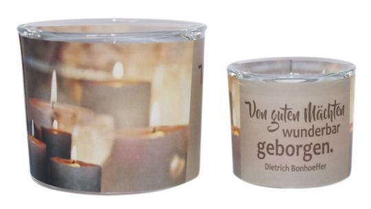 Leuchtglas 8 cm - Bonhoeffer - Von guten Mächten
