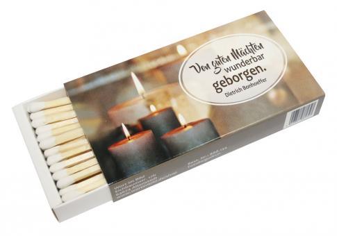 Streichholzschachtel - Kerzen - Von guten Mächten