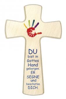 Holzkreuz Byzanz 20 x 12 cm -  Hand in Hand