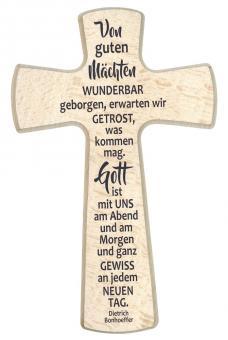 Holzkreuz Byzanz 20x12 cm - Von guten Mächten