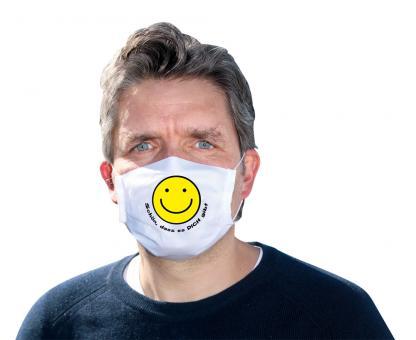 Mund-Nasen-Maske - Smiley - Schön, dass es dich gibt
