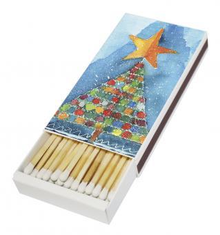 Streichholzschachtel - Bunter Weihnachtsbaum