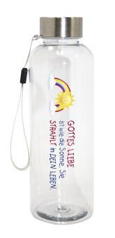 Trinkflasche Tritan - Regenbogen/Sonne - Gottes Liebe ist wie die Sonne ...