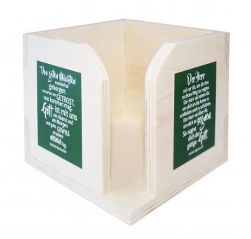 Zettelkasten aus Holz - Von guten Mächten & Irischer Segen