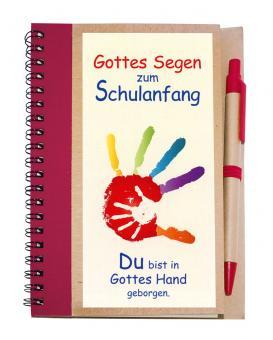 Notizbuch 14x18 m. Kuli - Gottes Segen zum Schulanfang