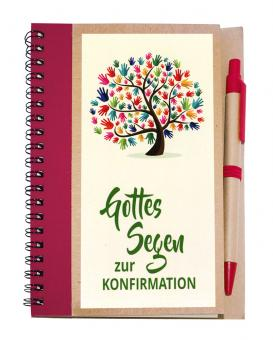 Notizbuch 14x18 m. Kuli - Gottes Segen zur Konfirmation - Baum