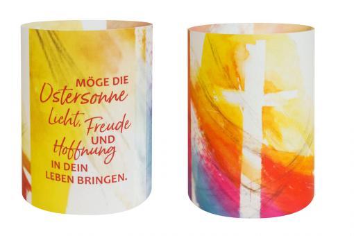 Lichtgeschenk mit LED-Teelicht - Kreuz - Simone Riedel