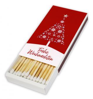 Streichholzschachtel - Sternenbaum - Frohe Weihnachten